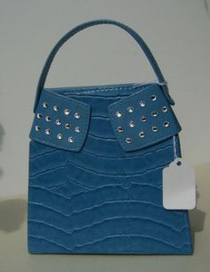 Stylish Peacock Blue Faux Leather Purse w/ by ShadesOfBling, $15.00