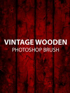 Vintage Wooden Free Photoshop Brush Set This is a great vintage wooden texture which blends very well with any colour the Photoshop brush is used within. The Photoshop brush is a great brush set, free to be used within commercial and non commercial design projects for you to enjoy.