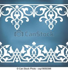 Seamless floral tiling borders - csp19050398 - nice design to make a die cut from
