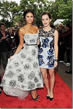 Nina Dobrev and Emma Watson 2012 Toronto Film Festival