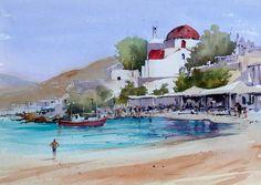 New Theme, Vignettes, Watercolor Art, Illustration, Painting, Watercolors, Graham, Venice, Beaches