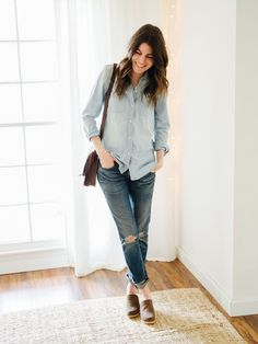 Ah, the chambray shirt. It gives me mixed feelings. Chambray has been a go-to in my closet for years. So much so, that I'm almost tired of it. It doesn't really feel likemy styl…
