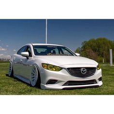 """⠀⠀⠀⠀⠀⠀⠀⠀⠀⠀⠀⠀SIXSQUAD on Instagram: """"Can never go wrong with white on white.  @funky_mac   #sixsquad #mazda #mazda6 #mazda3 #slammed #fitted #jdm #vip #stance #mazdamovement…"""""""