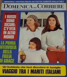 DOMENICA DEL CORRIERE - Cover - February 6, 1973 - Princess Grace with her daughters Caroline and Stephanie