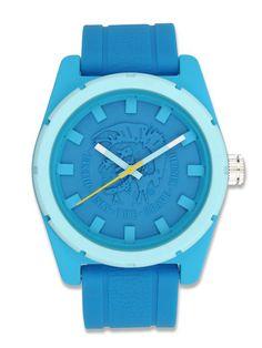Diesel DZ1592 Unisex Logo Dial Blue Silicone Watch