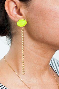 DIY Easy Chain and Jewel Earrings Tutoial