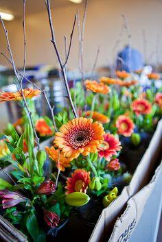 Gerber daisy centerpieces Project Dinner Table Gaia Flowers Las Vegas