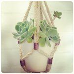 #Macrame Sisal Rope and Brass Fittings Hanging Planter, DIY from The Urchin Collective
