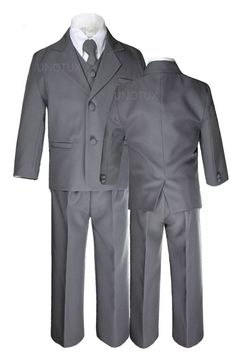 Baby Infant Toddler Kid Teen Boy Wedding Formal Black White Tuxedo Suits Sz S-20