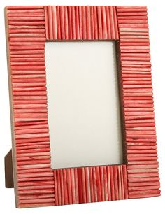 Matchstick Frame, 4x6, Red | Eye-Catching Vignettes | One Kings Lane