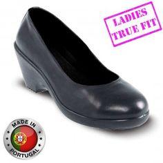 Lavoro Grace ESD Executive Black Ladies Safety Court Shoes