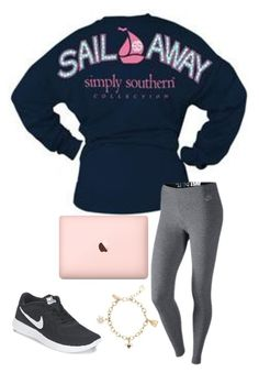 """""""Sail away with simply southern"""" by madison-mills-1 on Polyvore featuring Tervis, NIKE and Kate Spade"""