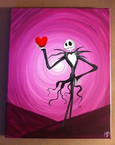 Nightmare before Christmas Acrylic Painting by MichaelHProsper, $45.00