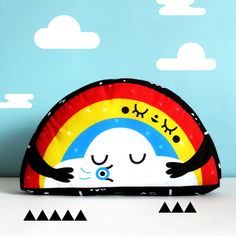 RAINBOW and CLOUD cushion via Gogo's Chop Shop. Click on the image to see more!