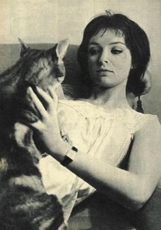 Marie Laforet and cat