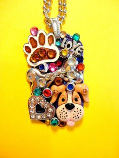 They Call It Puppy Love Dog Tag Pendant Number 1073 by BradosBling, $34.99