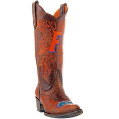 Gameday Florida Gators Ladies Cowboy Boots - Brown