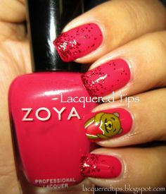LACQUERED TIPS: Valentine's Day Nails 12