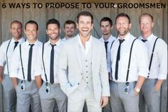 HOW TO: invite your groomsmen into the wedding party with class + style http://groomsadvice.com/2014/04/01/6-creative-ways-to-ask-your-main-men-to-be-your-groomsmen/
