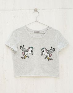 Camiseta parches Unicorns/Bananas/Rainbows - Estampadas - Bershka España