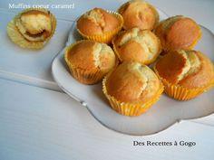 Muffins coeur caramel