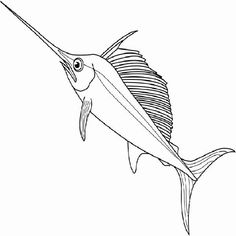 swordfish coloring page - swordfish pattern use the printable outline for crafts