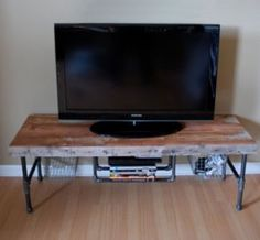 Reclaimed Media Console with baskets!