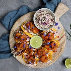 Cajun-style Shrimp Tacos with Greek Yogurt Cabbage Slaw – Cravings in Amsterdam