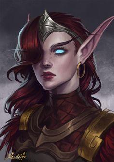 About commissions by MarcelaFreire on DeviantArt Elves Fantasy, Fantasy Races, High Fantasy, Fantasy Warrior, Medieval Fantasy, Dark Fantasy Art, Fantasy Girl, Fantasy Artwork, Warrior Girl