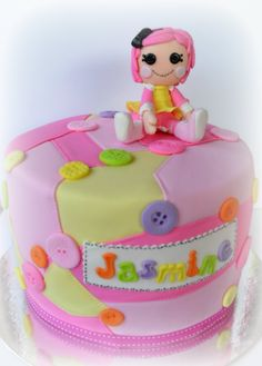 Lalaloopsy Cake but with a real mini doll on top not fondant.