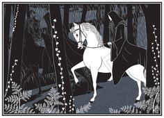 """Tam Lin:  """"The White Steed""""  ~ 2012 Pen & Ink © 2012"""