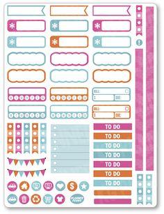 Gobble Gobble fonctionnel Planner Stickers pour Erin Condren