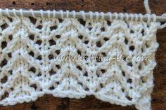 Chevron Rib Lace Free Knitting Stitch by www. Chevron Rib Lace Free Knitting Stitch by www. Rib Stitch Knitting, Lace Knitting Stitches, Lace Knitting Patterns, Baby Hats Knitting, Easy Knitting, Loom Knitting, Stitch Patterns, Chevrons, Sewing Basics