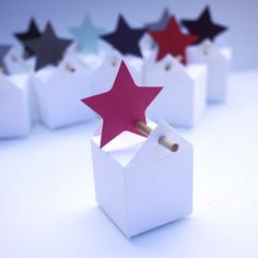 Boite dragées ~ thank you for being a star ** gift wrapping..