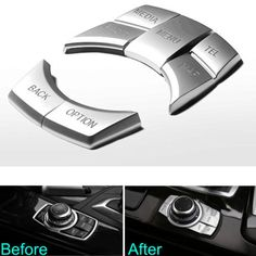 Interior Multi-Media Button Cover Trim 5Pcs For BMW 1/2/3 GT/5 Series x1x3x4x5x6