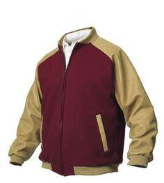 Vintage Varsity Style Bomber Jacket Raglan Sleeves (Wool & Leather)