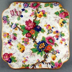 Crown Ducal Ware Tree Rose Floral Plate Chintz | eBay