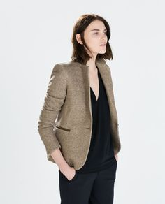 BLAZER WITH ELBOW PATCHES-Outerwear-Woman-COLLECTION SS15 | ZARA United States