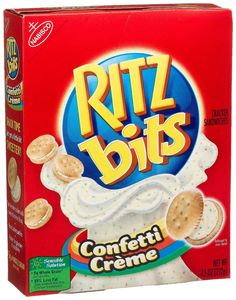 Ritz bits confetti crème sandwich crackers
