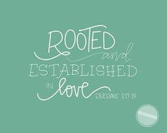 Image of Rooted and Established in Love Teal {Digital File}
