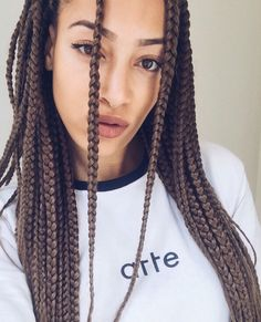 Box braids dark brown