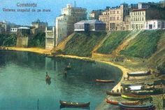 """This is an old Romanian postcard of Constanta -""""the seaside city""""."""