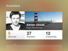 Service Profile / Adrien Olczak #UI #app #design Interface Design, Ui Ux Design, User Interface, Mobile Ui Design, User Profile, Ui Design Inspiration, Mobile Marketing, Material Design, Clean Design