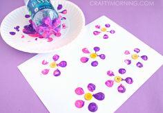 Bottle print button flowers.