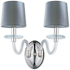"Maxim Venezia 14""H Nickel Clear Shade 2-Light Sconce - #9M348 | Lamps Plus"
