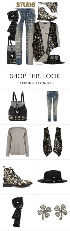 """More studs for the Contest in Designed by You"" by ragnh-mjos ❤ liked on Polyvore featuring Junya Watanabe, Warehouse, Givenchy, The Kooples, Gucci, Jona, Kate Spade, contest, outfit and Studs"