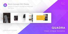 Quadra - Multi Concept Theme by GoldEyes Features Premium and Unique Design 1170px Grid System 100 Responsive Design Clean & Professional Design Free Fonts & Graphics Use