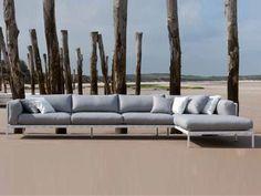 3 seater corner sofa natal alu sofa collection by trib design studio segers - Outdoor Mobel Set Tribu