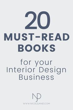 20 must-read books for your Interior Design business. go-to books book recommendations for interior design students and beginners. design business 20 Go-To Interior Design Books for Students and Beginners — Nicole Janes Design Interior Design For Beginners, Interior Design Basics, Interior Design Classes, Interior Design Minimalist, Interior Design Books, Vintage Interior Design, Interior Design Business, Design Loft, E Design