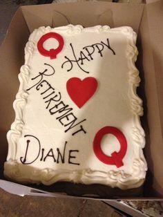 Queen of cards cake